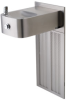 Barrier-free, Wall Mounted, Satin Finish Stainless Steel Electric Water Cooler With 100% Lead-free Waterways -- H1109.8