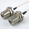 N Female Bulkhead to N Female Bulkhead Cable RG316 Coax in 12 Inch -- FMC1111316-12 -Image