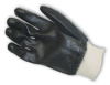 Semi-Rough Finish, Black, Knitwrist, Interlock Lined, Large -- 616314-06647