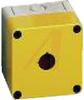 Enclosure;Pushbutton;Polycarb;1,22mmDiahole;NEMA4X;Yellow cover;3.7Lx3.7Wx3.19H -- 70074942