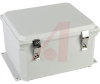 Enclosure;Polyester;NEMA 4X;Snap Latch;Hinged Cover;Solid Door;12.05x10.27x6.13 -- 70165389