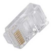 RJ45 Plugs for Cat5e Cable w/Solid or Strand Conductors 50pk -- CAB27574-50PK - Image