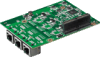 CIRCUIT BOARD, MIOe with 3xGigabit Ethernet through PCIe Switch -- MIOE-220-B3A1E