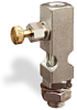 """(Formerly B1631-13-HN-SG), Straight Small Sight Feed Valve, Solid Gasket, 1/8"""" Female NPT Inlet, 5/16""""-24 Female Outlet, 1/2""""-20 Remote Mounting, Handwheel -- B1628-416B2HW -Image"""