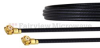 WMCX 1.6 Plug to WMCX 1.6 Plug Cable 0.81mm Coax in 9 Inch and RoHS Compliant -- FMCA1057-9 -Image