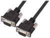 Premium Molded Black D-Sub Cable, HD15 Male / Male, 1.0 ft -- HAD00012-1F -Image