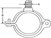 721 Series Hinged Split Ring Hanger -- 721 - 103 - Image