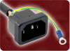 2' 18/3 SJTW 105C BLACK ICC IEC-60320-C14 INLET WITH GROUND LEAD TO IEC-60320-C13 POWER CORD -- 5297.024
