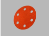3M Cubitron 777F Coated Ceramic Quick Change Disc - 120 Grit - 3 in Diameter 6 Vacuum Holes - 28071 -- 051141-28071 - Image