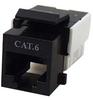 Cat6 RJ45 Modular Keystone Jack, 110 Style, Black -- 43-312BK