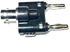 Adapter: Female BNC to Dual Banana Plugs -- BU-00260 - Image