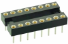32+32 Pos. Female DIL Vertical Throughboard IC Socket -- D2864-42 -- View Larger Image