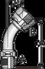 S138 – JIC Male x ORFS Female Swivel 45º Tube Bend
