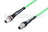 N Female to N Female Bulkhead Low Loss Test Cable 12 Inch Length Using PE-P300LL Coax, RoHS -- PE3C3247-12 -Image