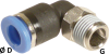 90° Elbow Male Connector - Image