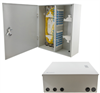 Fiber Enclosure Wall Mount with 72 SC(UPC) Single Mode Couplers & Pigtails -- FE-WM72SC