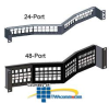 Leviton QuickPort Field-Configurable Angled Patch Panel -- 4W256-H24