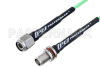 TNC Male to TNC Female Bulkhead Low Loss Cable 12 Inch Length Using PE-P160LL Coax -- PE3C5253-12 -Image