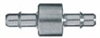 Barbed Fittings; Straight Connector, 316 SS, 3/16