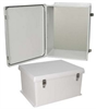 20x16x11 Inch NEMA 4X Rated Weatherproof Enclosure with Blank Non-Metallic Mounting Plate -- NB201611-KIT01 -Image
