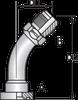 S3H – Code 62 Flange JIC Male 45º Tube Bend
