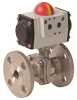 Pneumatically Actuated 2 PC Flanged Stainless Steel Valve -- PHS FL Series