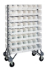 Bins & Systems - Clear-View Bins - Ultra Stack and Hang - Steel Rail Packages - QRU-16D-230-96CL - Image