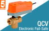 2/3-Way Ball Valve with Electronic Fail-Safe Actuator -- QCV Series - Image