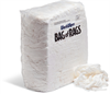 WorkWipes New White 100% Cotton Rags in Bag New Material Rags, T-Shirt, Bag - Compressed Shop Towels & Rags WIP597