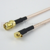 SMA Female to RA MMCX Plug Cable RG316 Coax in 60 Inch -- FMC1319316-60 -- View Larger Image