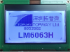 128x64 Graphic Display Module -- LM6063HCW - Image