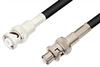MHV Male to SHV Plug Cable 36 Inch Length Using 93 Ohm RG62 Coax -- PE3451-36 -Image