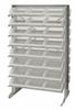 Bins & Systems - Clear-View Bins - Economy Shelf Bins - Sloped Shelving - Double Sided Pick Racks - QPRD-109CL - Image