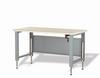 Adjustable Workbench with Shelf, Wood Comp. Top (60
