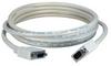 50ft QVS Plenum Rated HD15 M/F Triple Shielded Cable -- CC320P-50