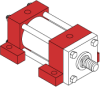 Series A Pneumatic Cylinder - Model A42 NFPA Style MS2 -- Side Lug Mounting