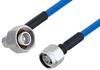 Plenum 4.1/9.5 Mini DIN Male Right Angle to N Male Low PIM Cable 200 cm Length Using SPP-250-LLPL Coax , LF Solder -- PE3C5849-200CM -Image