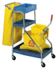 CLEARANCE - CONTINENTAL Port-A-Cart Economy Janitor Cart -- 3209100