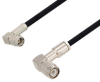 SMA Male Right Angle to TNC Male Right Angle Cable 100 cm Length Using RG223 Coax , LF Solder -- PE3W03671LF-100CM -Image
