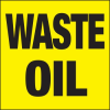Waste Oil Drum ID Label -- SGN651 -Image