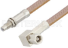 SMC Plug Right Angle to SMC Jack Bulkhead Cable 72 Inch Length Using RG400 Coax, RoHS -- PE34482LF-72 -Image