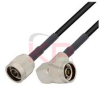 N-Male to Right Angle N-Male LMR 195 Cable -- KPPA-N-N-24-R - Image