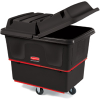 12 Cu. Ft. Rubbermaid® Black Heavy-Duty Utility Truck -- 7197 - Image