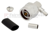 Right Angle N Male (Plug) Connector For LMR-195 Cable, Crimp/Solder -- TC-195-NMH-RA-D -Image