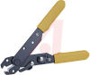 Wire Stripper; incl V Notch and Spring;10-24 AWG; cuts copper; yellow handle -- 70223513
