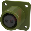 connector,box receptacle,class a,size 12s,2 #16 solder socket cont,olive drab -- 70009992 - Image