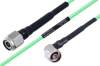 Temperature Conditioned TNC Male to N Male Right Angle Low Loss Cable 200 cm Length Using PE-P160LL Coax -- PE3M0209-200CM -Image