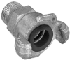 Zinc Plated Two Lug Male Threaded Coupling (NPT Threads)
