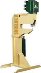 Surelok II clinching machine cabable of fastening materislas from 32 gauge to 14 gauge in thickness