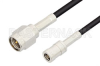 SMA Male to SMB Plug Cable 12 Inch Length Using PE-B100 Coax -- PE34455-12 -Image